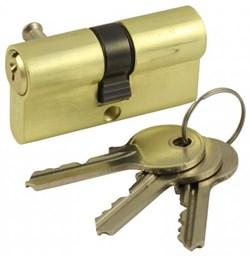 Цилиндровый механизм V60 SB (ключ-ключ) матовое золото - фото 19484
