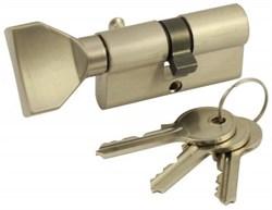 Цилиндровый механизм VC60 SN (ключ-вертушка) матовый никель - фото 19489