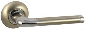Дверная ручка Винтаж F28D AL на круглой розетке SN матовый никель