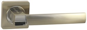 Дверная ручка Винтаж V02D на квадратной розетке SN матовый никель