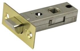 Защелка межкомнатная Винтаж L45 SB матовое золото с металлическим язычком