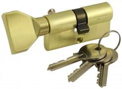 Цилиндровый механизм VC60 SB (ключ-вертушка) матовое золото