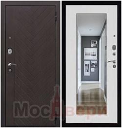 Входная дверь в квартиру Konstanz Дуб Нуар / Бьянко Зеркало - фото 37909