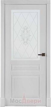 Межкомнатная дверь Эмаль Bellagio Bianco со стеклом - фото 40616