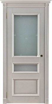 Межкомнатная дверь Массив Дуба Двери Белоруссии Франклин Слоновая кость со стеклом - фото 40962