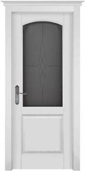Межкомнатная дверь Массив Ольхи Двери Белоруссии Ричмонд Белый Классик со стеклом - фото 41085