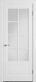 Межкомнатная дверь Эмаль Modena Bianco со стеклом - фото 51100