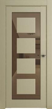 Межкомнатная дверь Profil 2.64RTN Крем Зеркало Бронза со стеклом - фото 51305