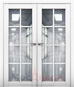 Дверь распашная двустворчатая Profil 101RU Аляска со стеклом - фото 54892
