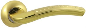 Дверная ручка Винтаж V26C AL на круглой розетке SB матовое золото