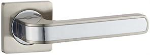 Дверная ручка Винтаж V09D на квадратной розетке SN матовый никель