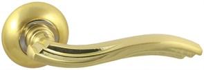Дверная ручка Винтаж V14C на круглой розетке SB матовое золото