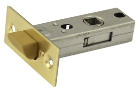 Защелка межкомнатная Винтаж P45 SB матовое золото с пластиковым язычком