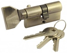 Цилиндровый механизм VC60 AB (ключ-вертушка) бронза