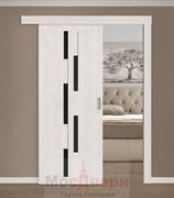 Раздвижная одностворчатая дверь Profil 30RTX Эш Вайт Мелинга со стеклом