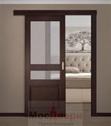 Раздвижная одностворчатая дверь Profil 67RN Сиена со стеклом
