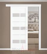 Раздвижная одностворчатая дверь Profil 41RTX Бьянко со стеклом