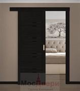 Раздвижная одностворчатая дверь Profil 2.80RTX Венге Темный со стеклом