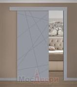 Раздвижная одностворчатая дверь Эмаль Finestra Grigio глухая