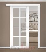 Раздвижная одностворчатая дверь Profil 101RU Аляска со стеклом