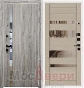Входная дверь в квартиру Scandi Langley Дуб Серый / Капучино Зеркало
