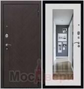 Входная дверь в квартиру Konstanz Дуб Нуар / Бьянко Зеркало