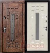 Входная дверь в дом уличная Trondheim Antik / Дуб Айвори