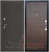 Входная дверь в квартиру Axel Антик серебристый / Шоко