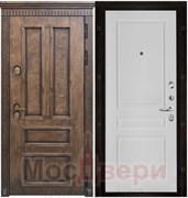 Входная дверь в дом уличная с терморазрывом Stockholm Античный дуб / Белая Эмаль