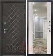Входная дверь в квартиру Scandi Denholm Дуб Нуар / Капучино Зеркало