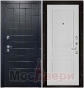 Входная дверь в квартиру Scandi взломостойкая Hoff Черный жемчуг / Белая Эмаль