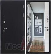 Входная дверь в квартиру Linz Антик серебристый / Эшвайт Зеркало