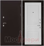Входная дверь в дом уличная с терморазрывом ThermoSafe Антик медный / Белая Эмаль