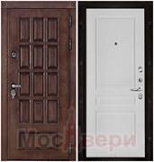 Входная дверь в дом уличная с терморазрывом Halmstad Античный дуб / Белая Эмаль