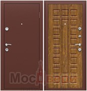 Входная дверь в квартиру IR-3 Антик медный / Дуб Золотой