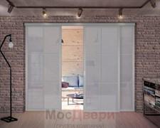 Межкомнатная перегородка раздвижная алюминиевая Horman Loft Standart 307U Металлик стекло Lacobel Графит