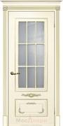 Межкомнатная дверь Эмаль Batista Avorio patina Oro со стеклом