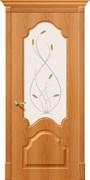 Межкомнатная дверь S-33 Миланский орех со стеклом