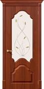 Межкомнатная дверь S-33 Итальянский орех со стеклом