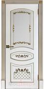 Межкомнатная дверь Эмаль Aurelia Bianco patina Oro со стеклом