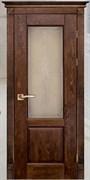 Межкомнатная дверь Массив Дуба Двери Белоруссии Галифакс Дуб Винтаж со стеклом
