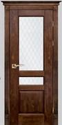 Межкомнатная дверь Массив Дуба Двери Белоруссии Ланкастер Дуб Винтаж со стеклом