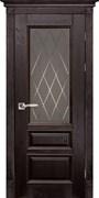 Межкомнатная дверь Массив Дуба Двери Белоруссии Оксфорд Венге Квадро со стеклом