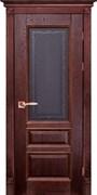Межкомнатная дверь Массив Дуба Двери Белоруссии Оксфорд Красное Дерево Кристалл со стеклом