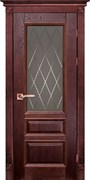 Межкомнатная дверь Массив Дуба Двери Белоруссии Оксфорд Красное Дерево Квадро со стеклом