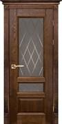 Межкомнатная дверь Массив Дуба Двери Белоруссии Линкольн Дуб Винтаж Квадро со стеклом