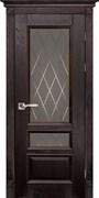 Межкомнатная дверь Массив Дуба Двери Белоруссии Линкольн Венге Квадро со стеклом