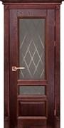 Межкомнатная дверь Массив Дуба Двери Белоруссии Линкольн Красное Дерево Квадро со стеклом