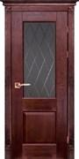 Межкомнатная дверь Массив Дуба Двери Белоруссии Нортон Красное Дерево со стеклом
