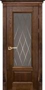 Межкомнатная дверь Массив Дуба Двери Белоруссии Рочестер Дуб Винтаж Квадро со стеклом